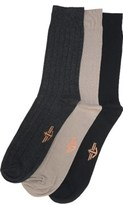 Dockers 3 Pack Men's Rib Crew Socks