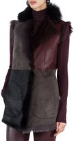 Akris Punto Fur-Lined Patchwork Gilet