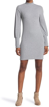 One One Six Ruched Neck Sleeve Short Dress