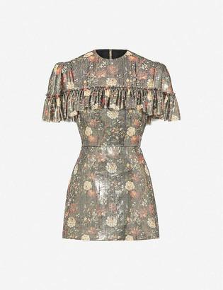 The Vampire's Wife Nearly Nuthin metallic silk-blend mini dress