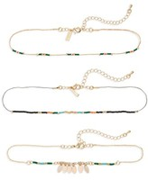 Topshop Women's Set Of 3 Beaded Chokers