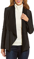 Bernardo Drape Front Leather Jacket