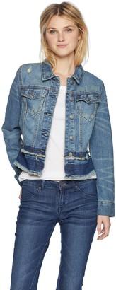 Silver Jeans Co. Women's Sahara-Jean Jacket W/Fray Details