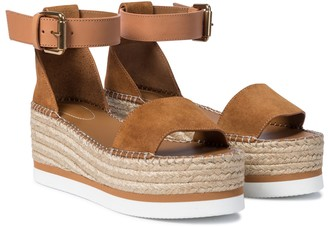 See by Chloe Glyn leather platform espadrille sandals
