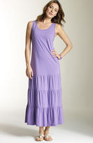 Tiered cotton knit tank dress