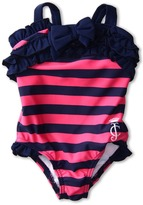 Juicy Couture Thick Striped Bathing Suit (Infant) (Regal) - Apparel
