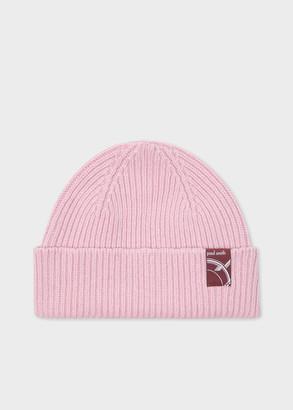 Paul Smith Women's Pink Cashmere-Blend Beanie Hat