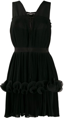 Stella McCartney ruffled-layer pleated dress