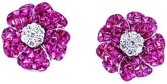 Arthur Marder Fine Jewelry 18K 5.10 Ct. Tw. Diamond & Ruby Earrings