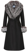 Prada Fur-trimmed wool coat