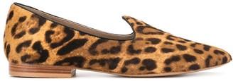 Le Monde Beryl Leopard-Print Loafers