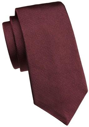 Emporio Armani Dotted Woven Silk Tie