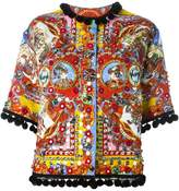 Dolce & Gabbana Carretto Siciliano print jacket