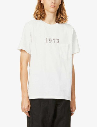 The Soloist 1973 text-print cotton-jersey T-shirt