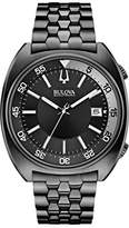Bulova Accutron II Men's Quartz Watch with Black Dial Analogue Display and Black Ion-Plated Bracelet 98B219