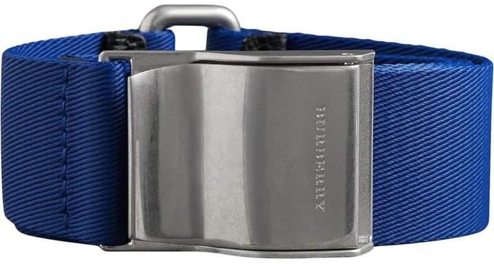Burberry logo plaque buckle belt
