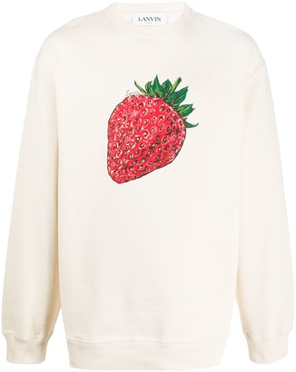 Lanvin strawberry print sweatshirt