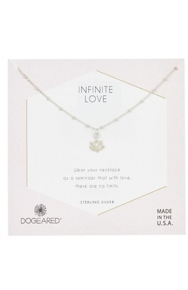 Dogeared Sterling Silver Infinite Love Happy Lotus Pendant Necklace