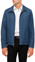 Canali Leather Reversible Jacket