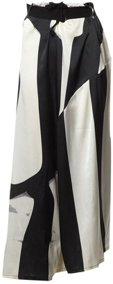 Ann Demeulemeester Black Silk Trousers