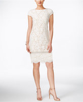 Vince Camuto Cap-Sleeve Lace Sheath Dress