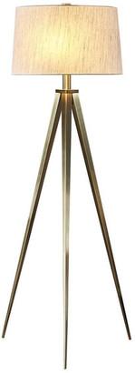 "Artiva USA Hollywood 63"" LED Tripod Floor Lamp w/ Dimmer, Antique Sati"