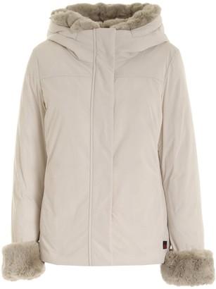 Woolrich Faux Fur-Trim Hooded Padded Jacket