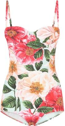 Dolce & Gabbana Floral-Print One-Piece