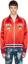 Gucci Red Donald Duck Bomber Jacket