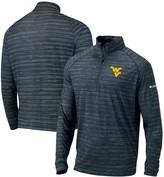 Columbia Unbranded Men's Navy West Virginia Mountaineers Approach Raglan Half-Zip Pullover Jacket