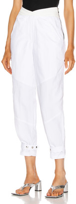 RtA Dallas Baggy Cargo Pants in Track White | FWRD