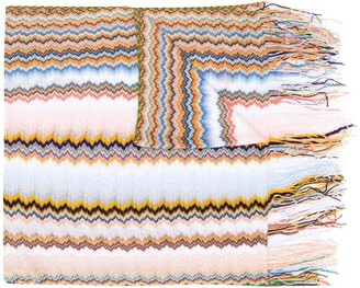 Missoni Embroidered Knitted Scarf