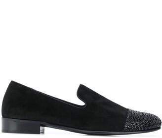 Giuseppe Zanotti Contrast Toe Cap Loafers