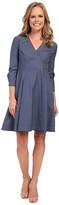 NYDJ Cotton Poplin Shirt Dress