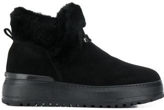 Baldinini Faux Shearling Ankle Boots