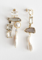 And other stories Rhinestone Pearl Hanging Earrings