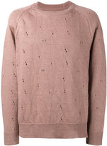 Our Legacy distressed sweater - men - Linen/Flax - 46