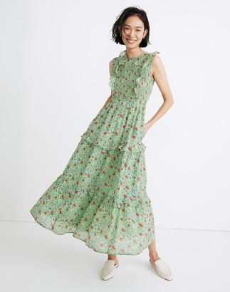 Madewell Banjanan Iris Ruffled Midi Dress in Siesta Bud Print