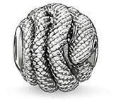 Thomas Sabo Women Men-Bead Snake Karma Beads 925 Sterling Silver blackened Zirconia black K0066-051-11