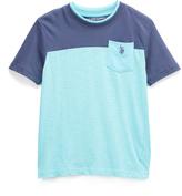 U.S. Polo Assn. Pigment Blue Pocket Crewneck Tee - Boys