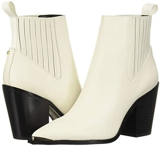 Kenneth Cole New York West Side Bootie RB (Off-White/Black) Women's Boots