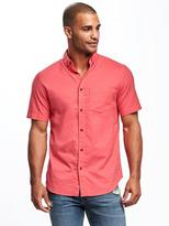 Old Navy Built-In Flex Slim-Fit Summer-Weight Oxford for Men