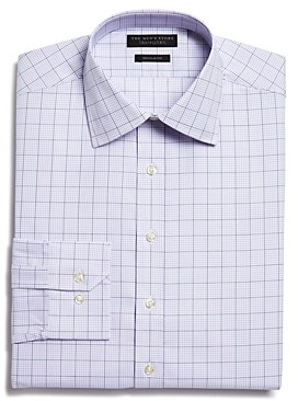 The Men's Store at Bloomingdale's Overcheck Regular Fit Dress Shirt - 100% Exclusive