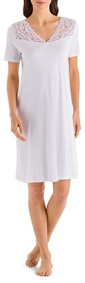 Hanro Moments Short-Sleeve Night Gown