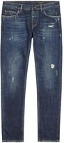 Dolce & Gabbana Indigo Distressed Straight-leg Jeans