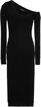Cushnie Off-the-shoulder Cutout Ribbed-knit Midi Dress