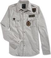 GUESS Men's Layne Twill Military Shirt