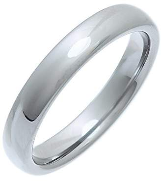 Theia Nickel Free Tungsten - Highly Polished - 4mm Wedding Ring for Ladies or Gents - Size Z