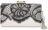 Tadashi Shoji Tasseled Embroidered Lace Clutch