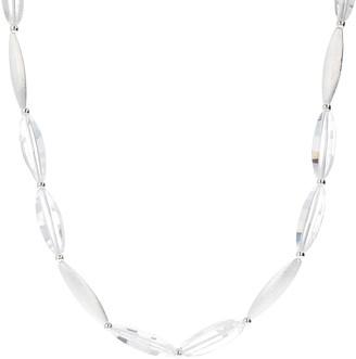 """Argento Arte D'argento Arte D' Sterling Silver Elongated Quartz 18"""" Necklace"""